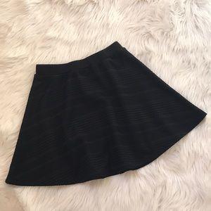 Joe B Black Textured Skater Skirt | S
